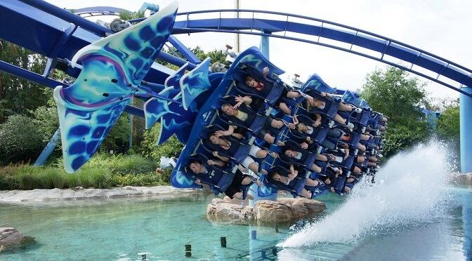 SeaWorld: Rollercoster w Orlando