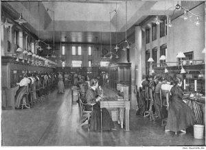 Ręczna centrala telefoniczna Bell Telephone Company 1897 rok